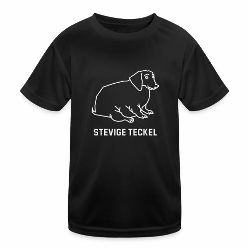 Stevige Teckel - Functioneel T-shirt voor kinderen