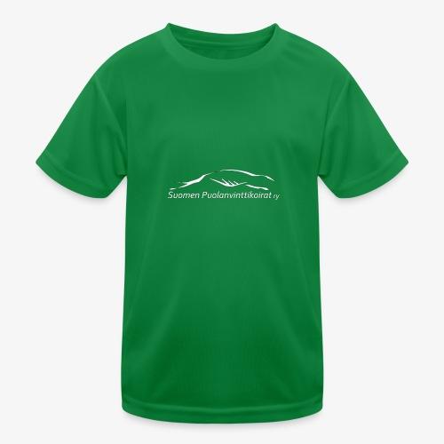 SUP logo valkea - Lasten tekninen t-paita