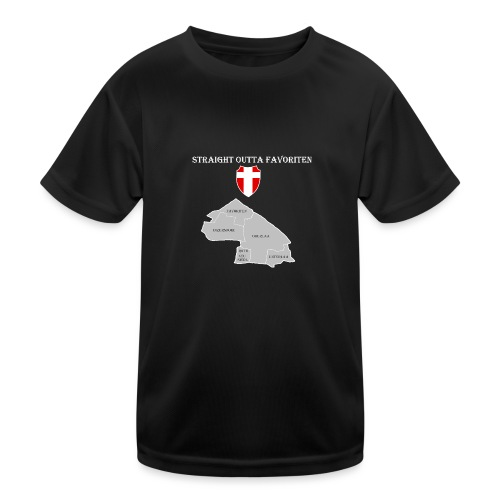 straight outta favoriten wien weiß - Kinder Funktions-T-Shirt
