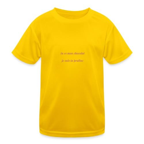 Tu es mon chocolat clair - T-shirt sport Enfant
