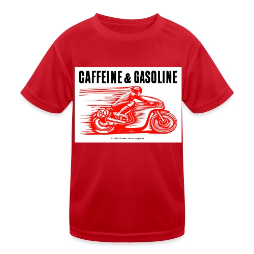 Caffeine & Gasoline black text - Kids Functional T-Shirt