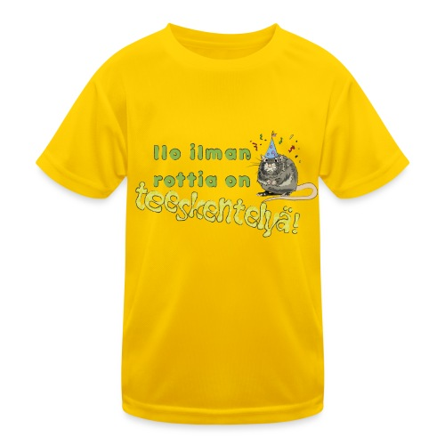 Ilo ilman rottia - kuvallinen - Lasten tekninen t-paita