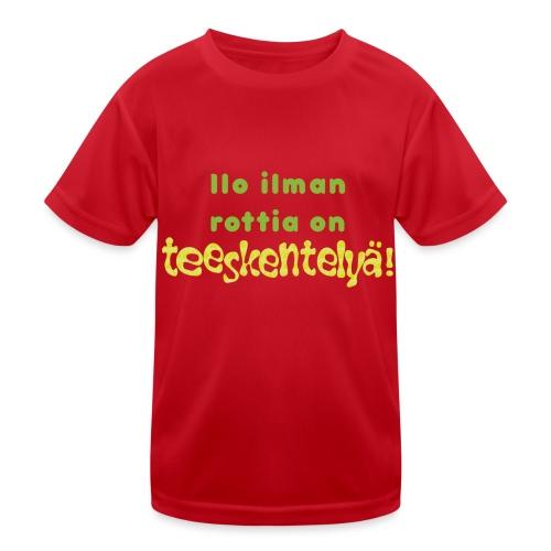 Ilo ilman rottia - vihreä - Lasten tekninen t-paita