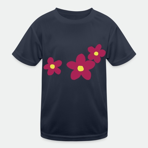 Three Flowers - Kids Functional T-Shirt