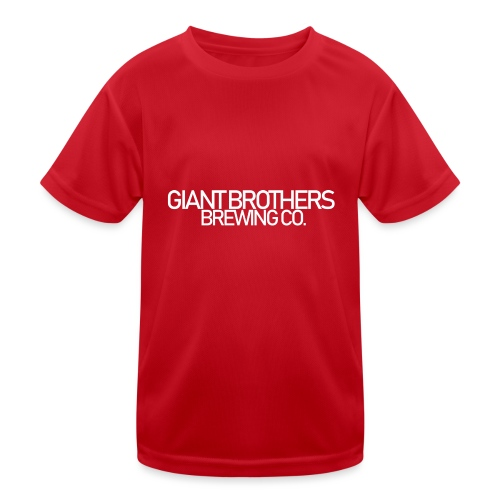 Giant Brothers Brewing co white - Funktions-T-shirt barn