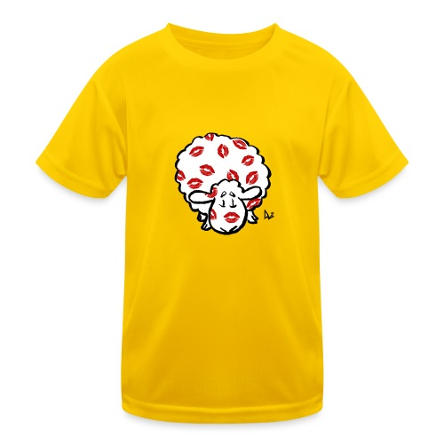 Kuss Mutterschaf - Kinder Funktions-T-Shirt