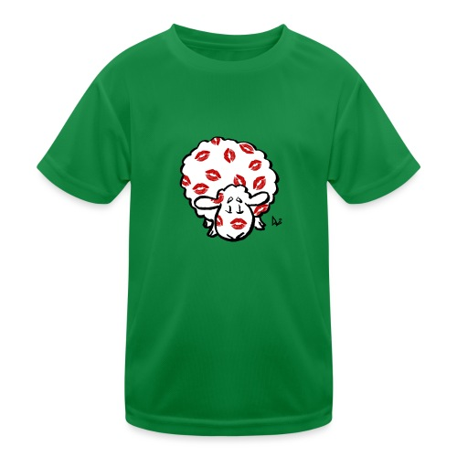 Kuss Mutterschaf - Kinder Funktions-T-Shirt