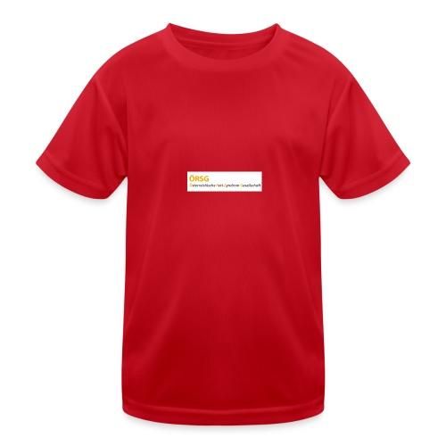 Text-Logo der ÖRSG - Rett Syndrom Österreich - Kinder Funktions-T-Shirt