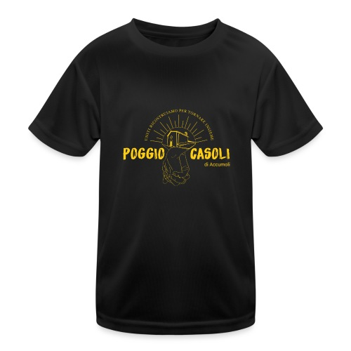 Poggio Casoli_Istituzionale_Giallo - Maglietta sportiva per bambini