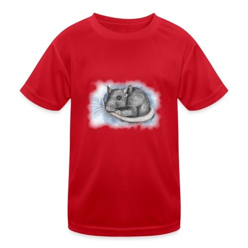 Rottapiirros - Värikuva - Lasten tekninen t-paita