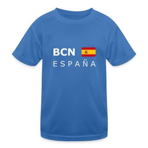 BCN ESPAÑA white-lettered 400 dpi - Kids Functional T-Shirt