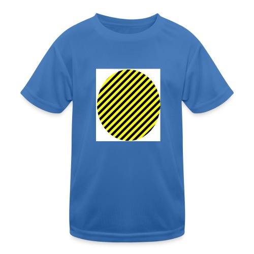 varninggulsvart - Funktions-T-shirt barn