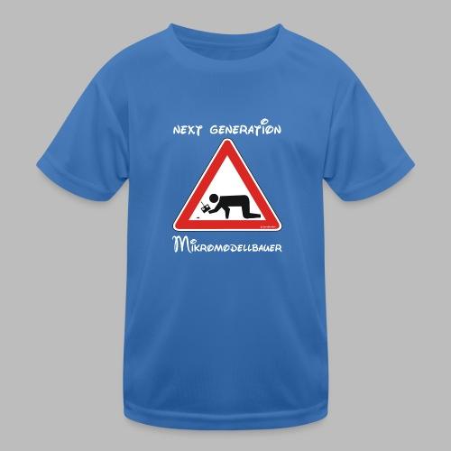 Warnschild Mikromodellbauer Next Generation - Kinder Funktions-T-Shirt