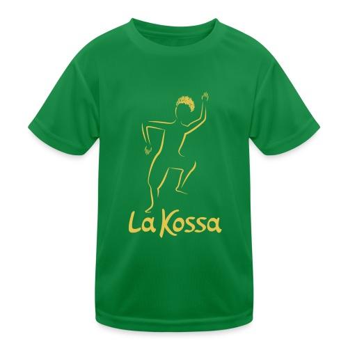 La Kossa Afro Dance Fitness Logo Gold 1 - Kinder Funktions-T-Shirt