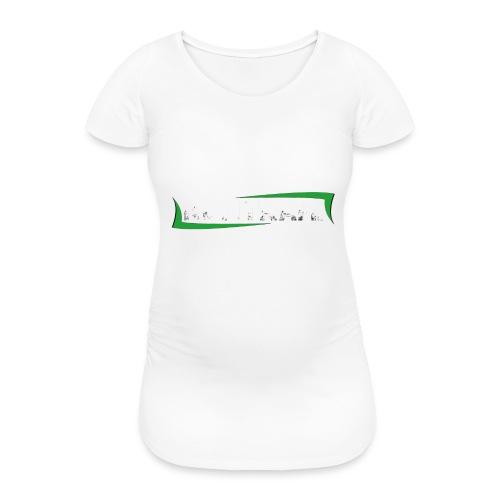 Kontrah Schriftzug groß - Frauen Schwangerschafts-T-Shirt