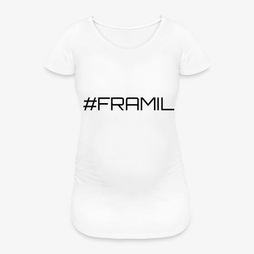 Musta framil - Naisten äitiys-t-paita