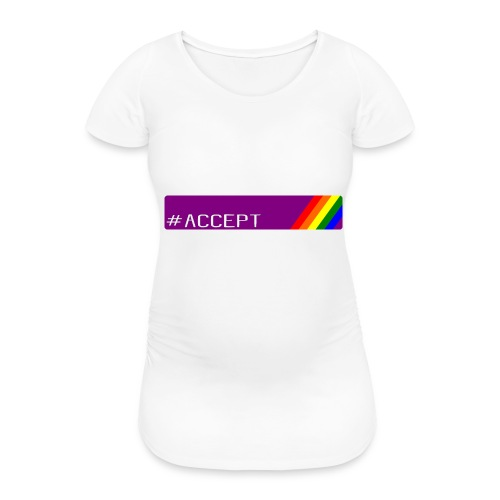 79 accept - Frauen Schwangerschafts-T-Shirt