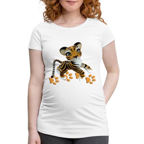Kleiner Tiger - Frauen Schwangerschafts-T-Shirt
