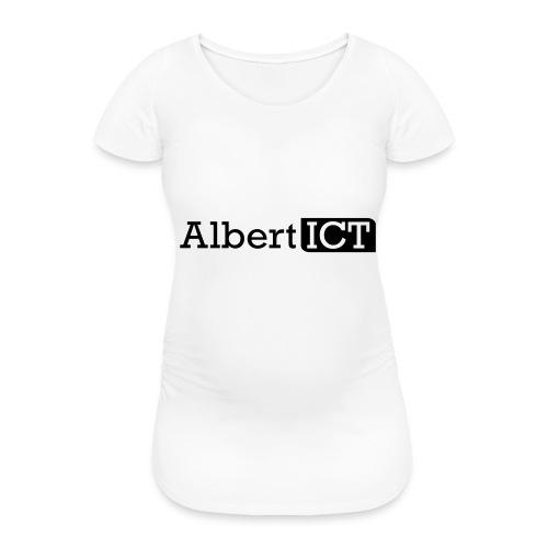 Logo_AlbertICT - Vrouwen zwangerschap-T-shirt