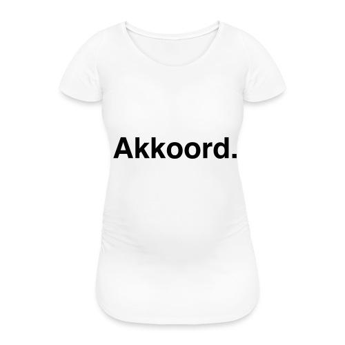 Akkoord - Vrouwen zwangerschap-T-shirt