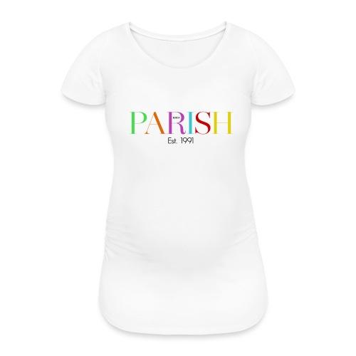 Jessica Parish Color-Schriftzug - Frauen Schwangerschafts-T-Shirt