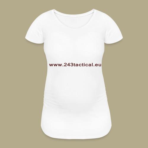 .243 Tactical Website - Vrouwen zwangerschap-T-shirt