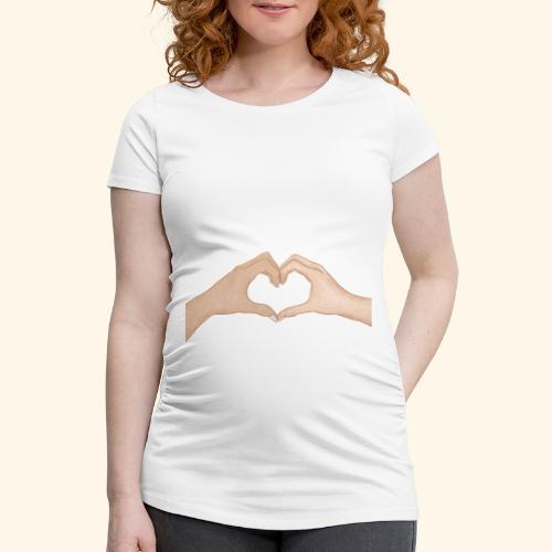 Mains Coeur Amour - Love hands - T-shirt de grossesse Femme