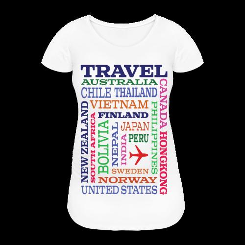 Travel Places design - Naisten äitiys-t-paita
