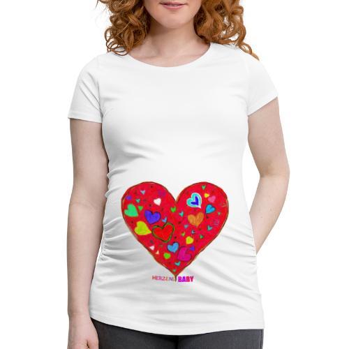 HerzensBaby - Frauen Schwangerschafts-T-Shirt