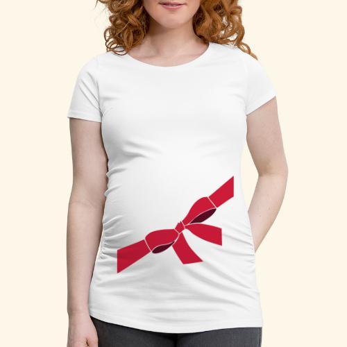 bauchschleife - Frauen Schwangerschafts-T-Shirt
