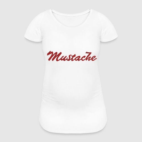Red Mustache Lettering - Women's Pregnancy T-Shirt