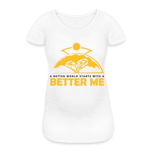 Better Me - White - Women's Pregnancy T-Shirt