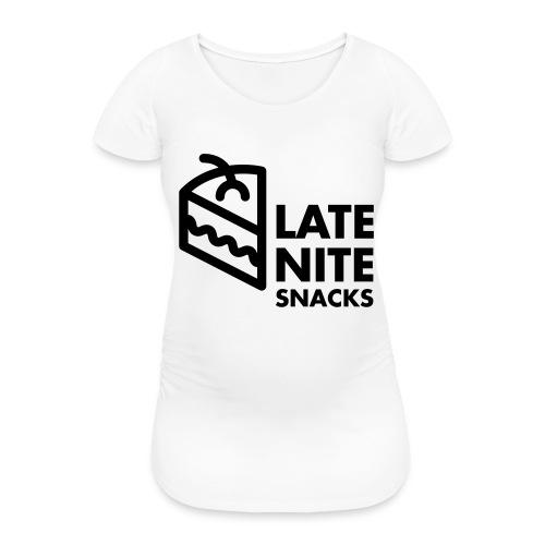 LATE NITE SNACKS LOGO - Frauen Schwangerschafts-T-Shirt