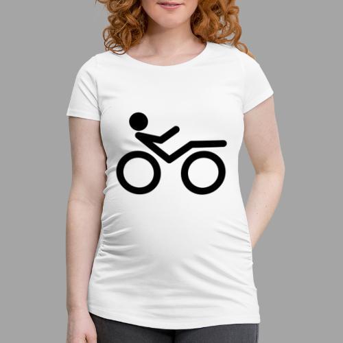 Recumbent bike black 2 - Naisten äitiys-t-paita