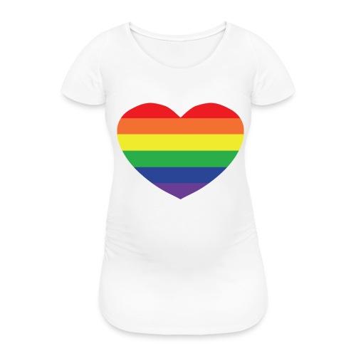 Rainbow heart - Women's Pregnancy T-Shirt