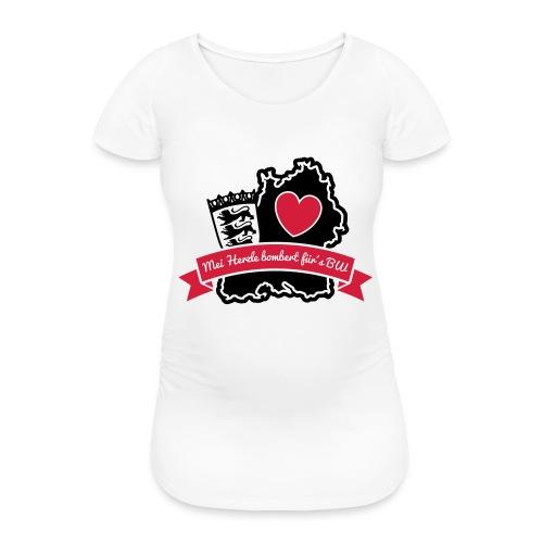 Herzle BW - Frauen Schwangerschafts-T-Shirt
