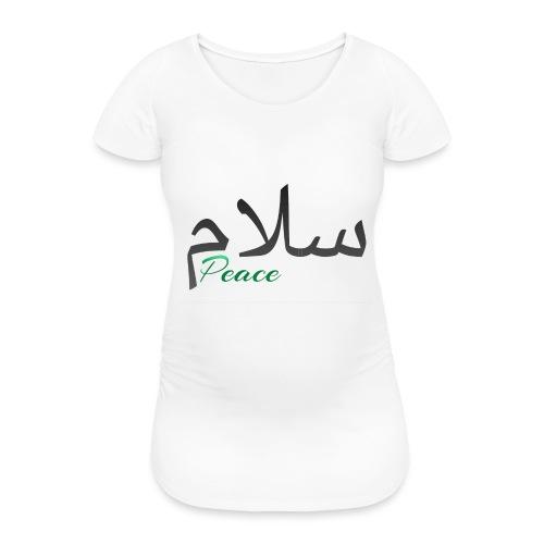 Arabic Salam text - Women's Pregnancy T-Shirt