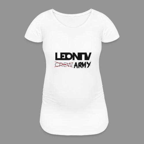 LeonTV ̶c̶̶r̶̶e̶̶w̶ ARMY - Frauen Schwangerschafts-T-Shirt