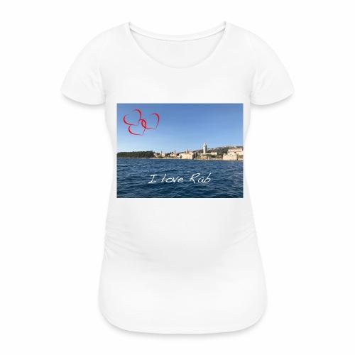 I love Rab - Frauen Schwangerschafts-T-Shirt