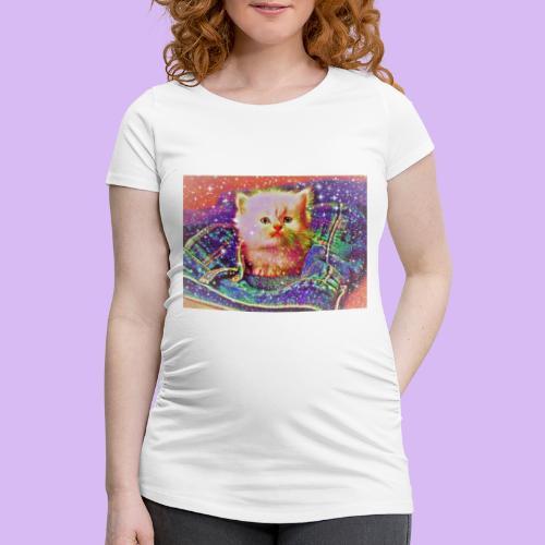 Gattino scintillante nella tasca dei jeans - Maglietta gravidanza da donna