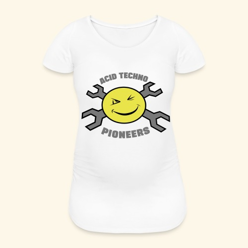 ACID TECHNO PIONEERS - SILVER EDITION - Women's Pregnancy T-Shirt