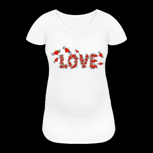 Flying Hearts LOVE - Women's Pregnancy T-Shirt