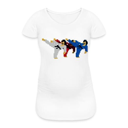8 bit trip ninjas 2 - Women's Pregnancy T-Shirt