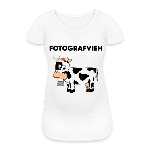 Fotografvieh - Frauen Schwangerschafts-T-Shirt