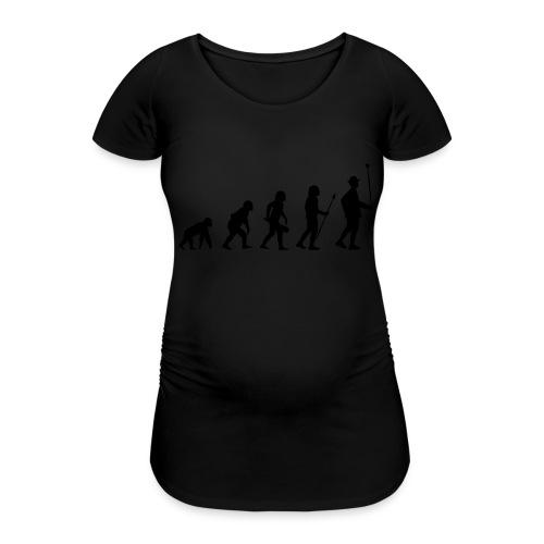 Stabführer Evolution - Frauen Schwangerschafts-T-Shirt