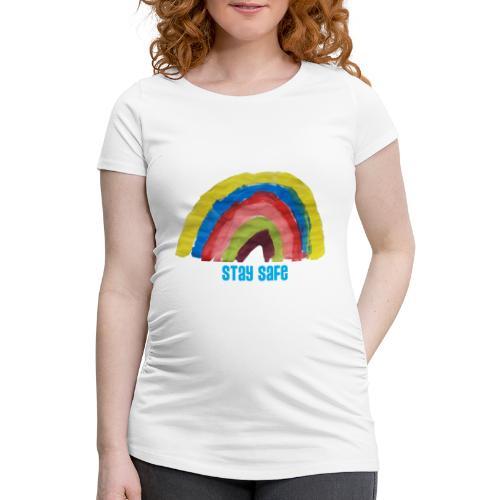 Stay Safe Rainbow Tshirt - Women's Pregnancy T-Shirt
