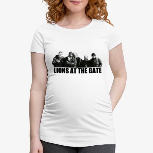 LIONS AT THE GATE SHIRT (WHITE) - Vrouwen zwangerschap-T-shirt