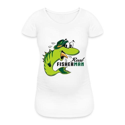 10-38 REAL FISHERMAN - TODELLINEN KALASTAJA - Naisten äitiys-t-paita