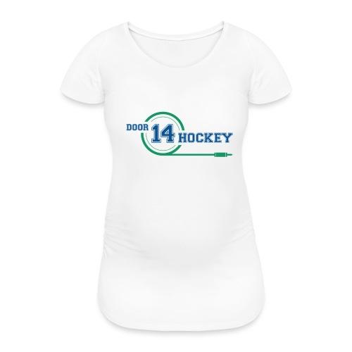 D14 HOCKEY LOGO - Women's Pregnancy T-Shirt