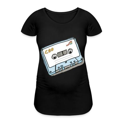 Cassette - Frauen Schwangerschafts-T-Shirt